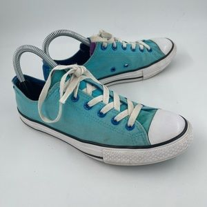 Converse Girl's Teal CT All Stars Canvas Sneakers